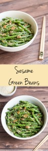 Sesame Green Beans. This Asian-inspired side dish is simple and delicious. The green beans are stir-fried with garlic, coated in a honey-soy sauce, and topped with toasted sesame seeds.
