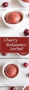Cherry Balsamic Sorbet