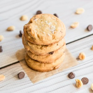 Salted Peanut Butter Chunk Cookies
