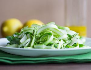 Shaved Asparagus Salad with Lemon Anchovy Vinaigrette