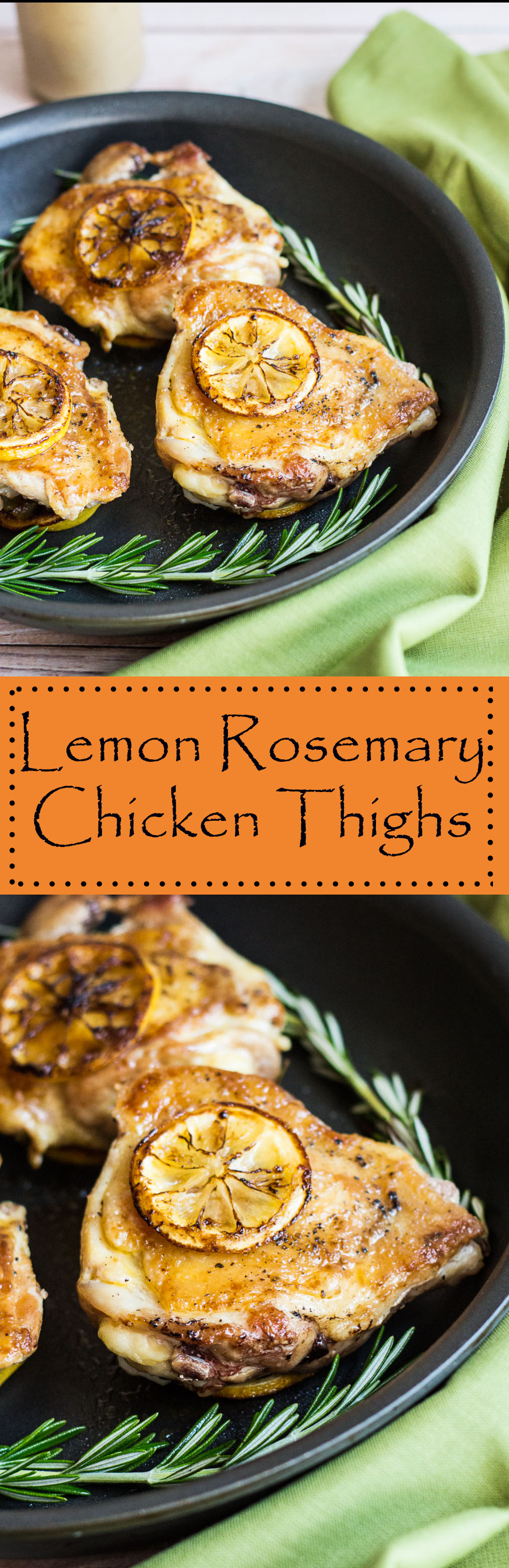 Lemon Rosemary Chicken Thighs with Pan Sauce – Cooking at Sabrina's