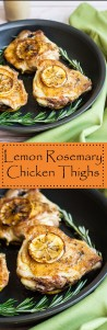 Lemon Rosemary Chicken Thighs with Pan Sauce