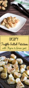 CRISPY Truffle Salted Potatoes with Thyme & Lemon