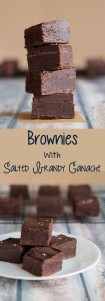 Brownies with Salted Brownie Ganache