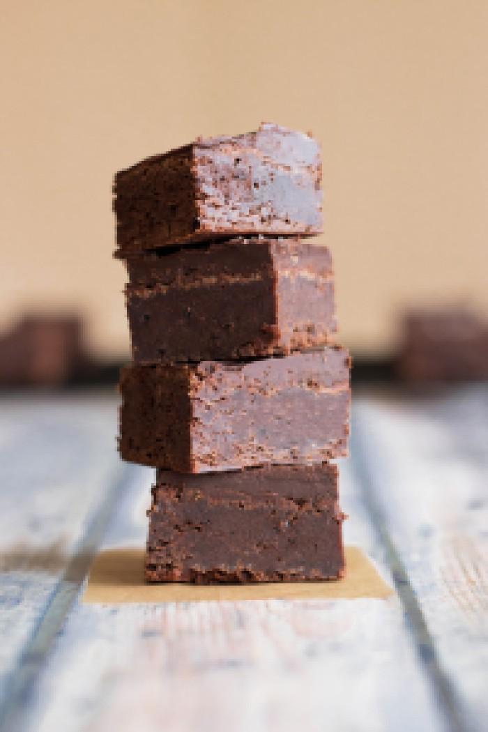 Brownies with Salted Brownie Ganache