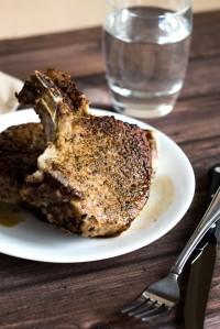 Brined Fennel Crusted Pork Chops
