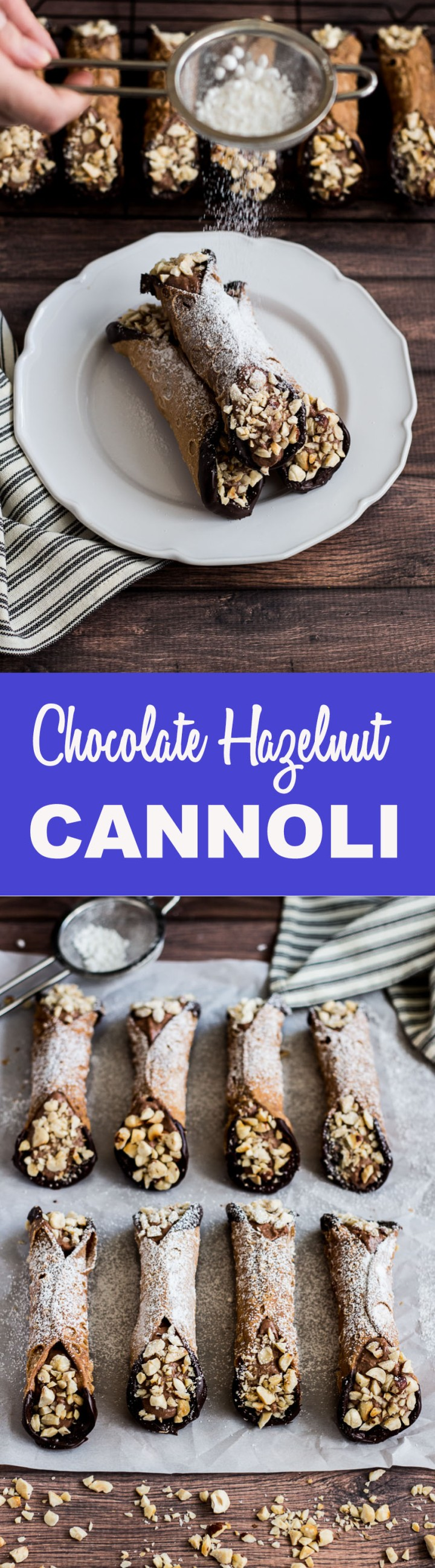 Chocolate Hazelnut Cannoli #Perugina #Colavita #Chocolate #Dessert #JoinTheTable