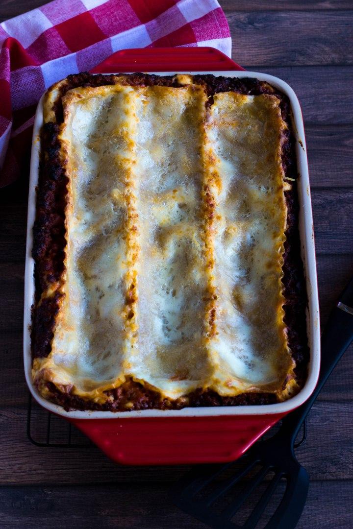 Lasagna Bolognese with Bechamel Sauce #Colavita #Perugina #JoinTheTable