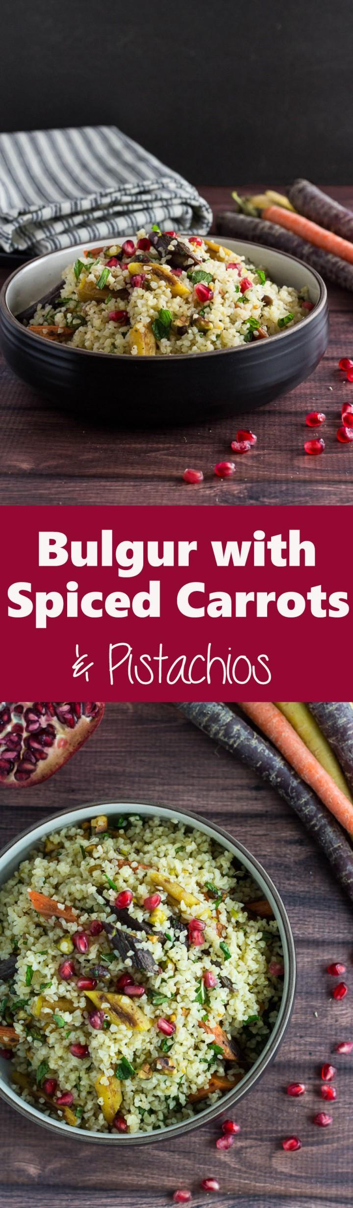 Bulgur with Spiced Carrots & Pistachios