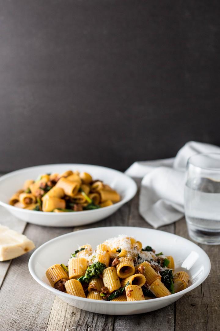 Pasta with Sausage & Broccoli Rabe