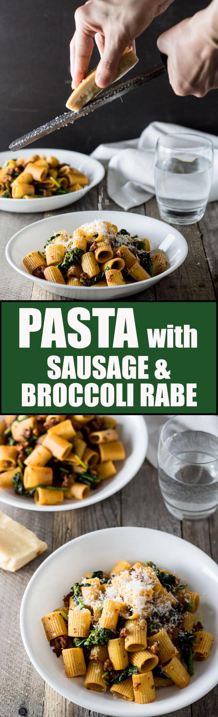Mezzi Rigatoni with Sausage & Broccoli Rabe