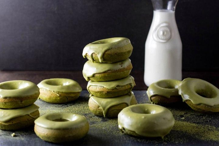 Baked Matcha Glazed Doughnuts 183 My Three Seasons