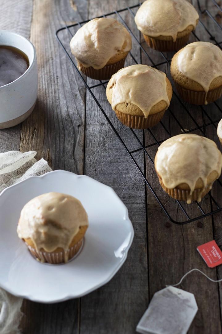 Glazed Chai Tea Muffins