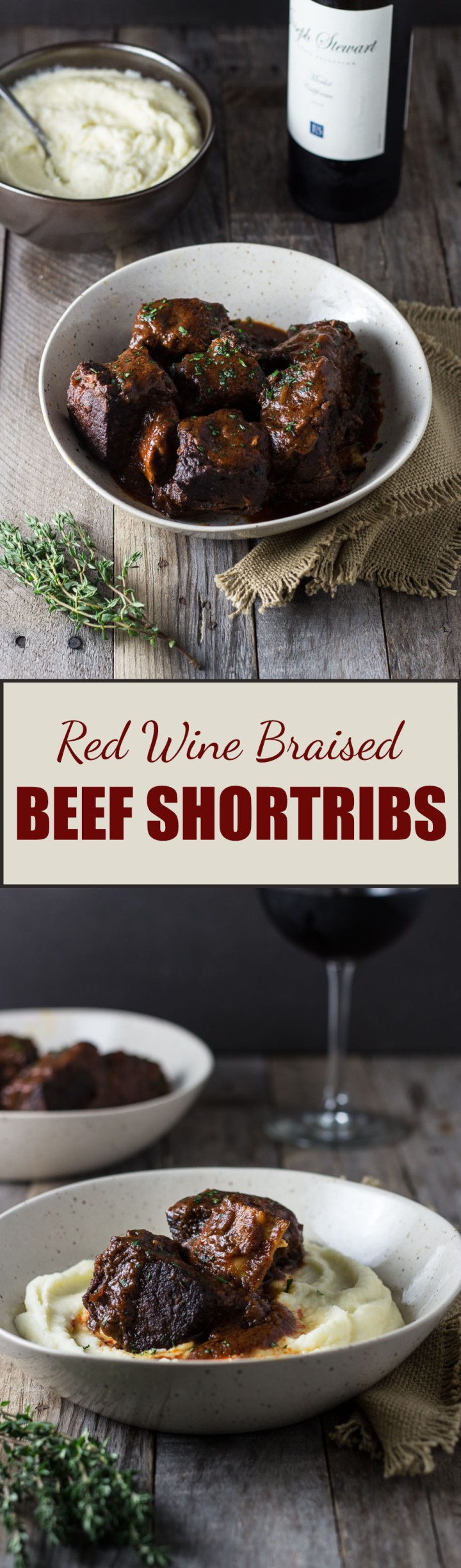 Red Wine Braised Short Ribs | cookingatsabrinas.com @sabrinascooking