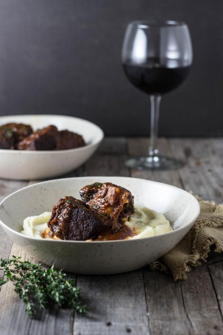 Red Wine Braised Short Ribs | cookingatsabrinas.com @sabrinascooking