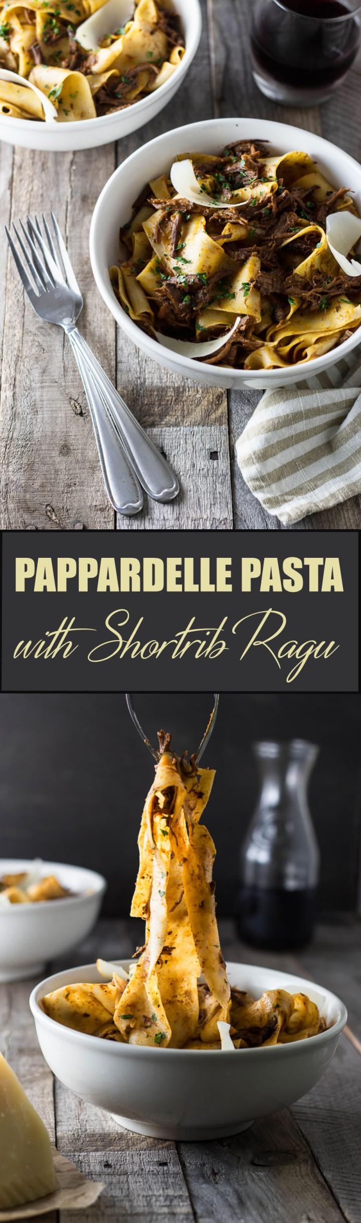 Pappardelle with Short Rib Ragu | cookingatsabrinas.com @sabrinascooking